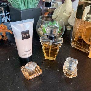 Lancôme Tresor Set of 4 - 30ml EDP spray 30ml (20ml left) plus 2 minis / lotion